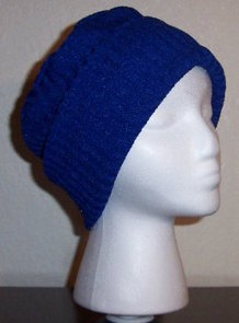 royal blue rib knit