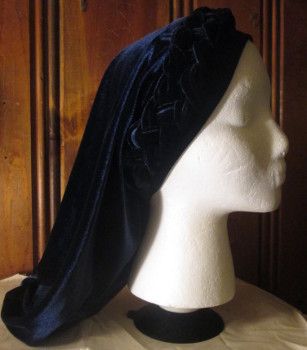Navy Snood with Braided Headband
